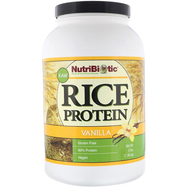 Необработанный рисовый протеин, ваниль, 1,36кг (3фунта)