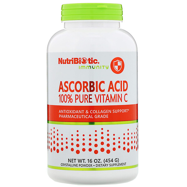 Immunity, аскорбиновая кислота, 100% чистый витаминC, 454г (16 унций)