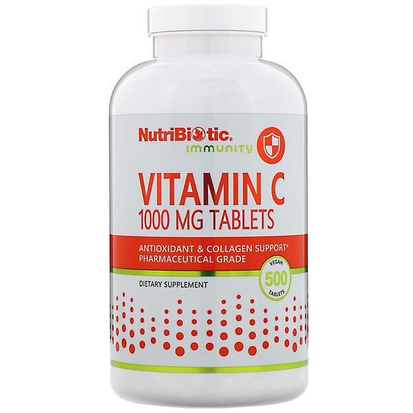 Immunity, витамин C, 1000 мг, 500 веганских таблеток