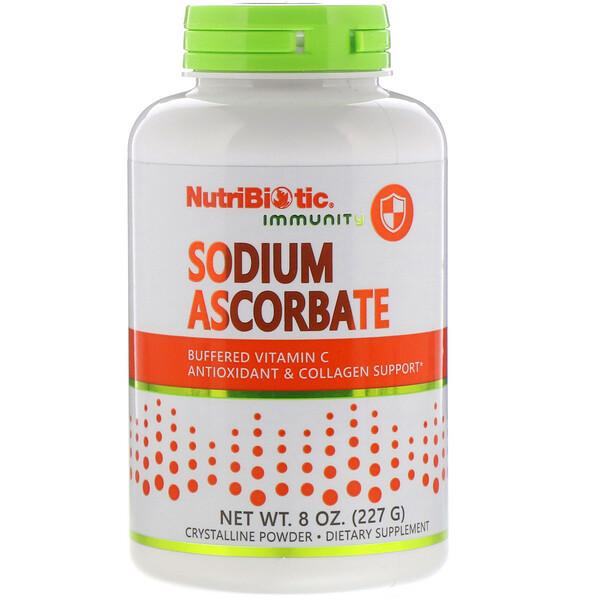 NutriBiotic, Immunity, аскорбат натрия, кристаллический порошок, 227г (8унций)