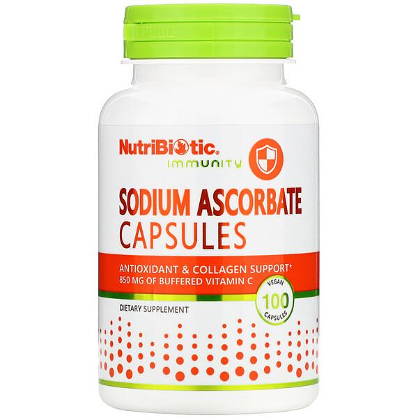 NutriBiotic, Immunity, Sodium Ascorbate, 100 Vegan Capsules