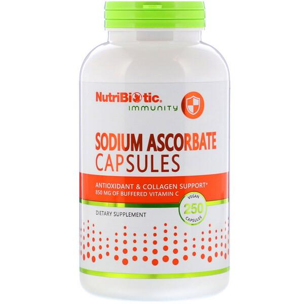 NutriBiotic, Immunity, Sodium Ascorbate, 250 Vegan Capsules