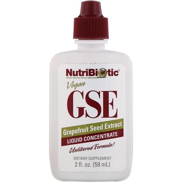 Веганский экстракт семян грейпфрута GSE, жидкий концентрат, 59 мл (2 жидкие унции)