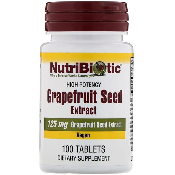 Семена грейпфрута, экстракт, 125 мг, 100 таблеток