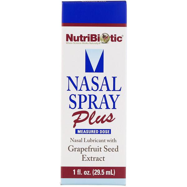 NutriBiotic, Назальный спрей Plus, с экстрактом семян грейпфрута, 29,5мл (1жидк.унция)
