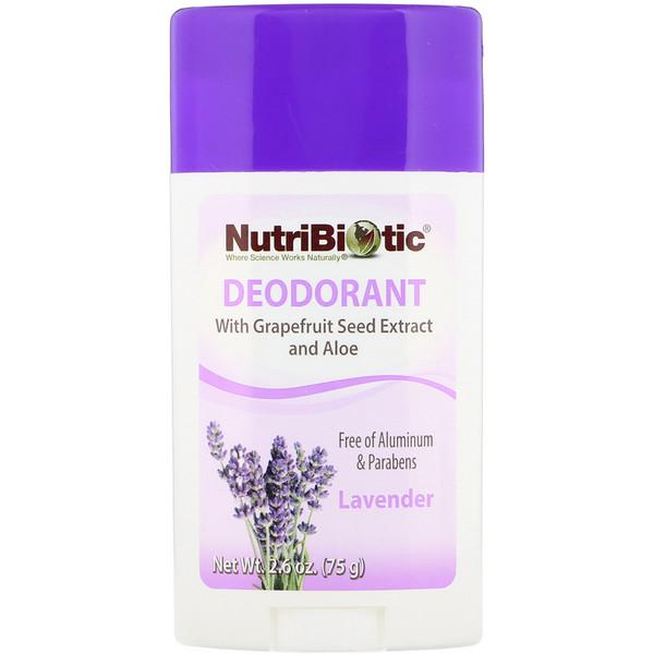 Deodorant, Lavender, 2.6 oz (75 g)