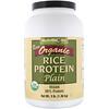 NutriBiotic, Сырой органический рисовый протеин, без добавок, 1,36 кг (3 фунта)
