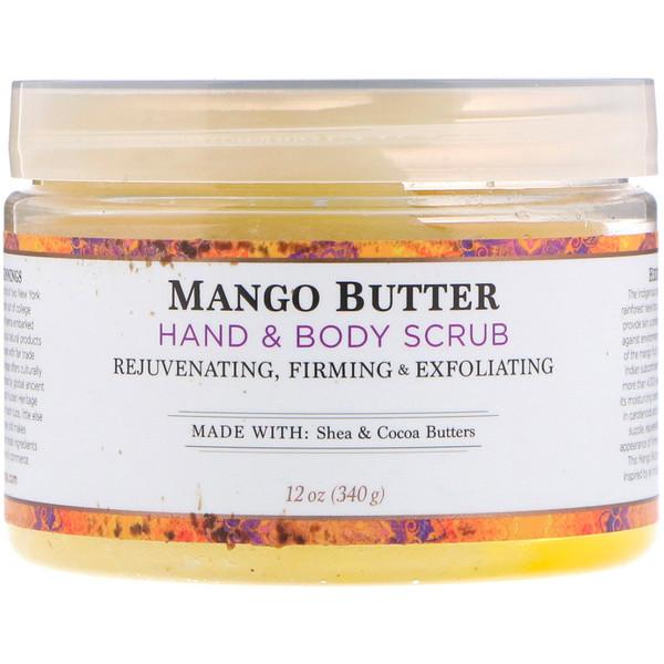 скраб для рук и тела, масло манго, 340 г (12 унций)