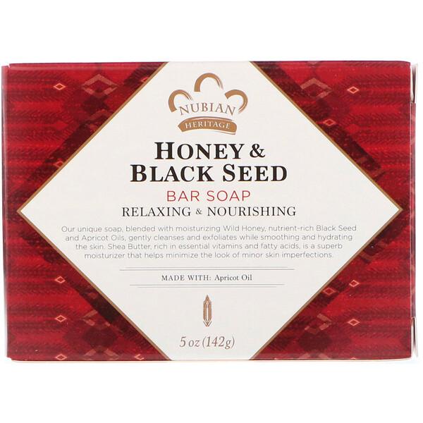 Кусковое мыло с медом и черным тмином, 142 г