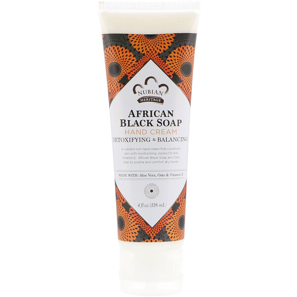 Hand Cream, African Black Soap, 4 fl oz (118 ml)