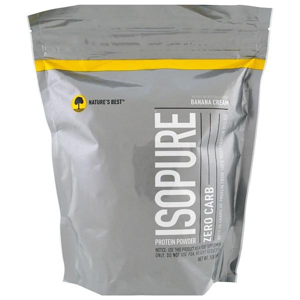 Isopure, Zero Carb Protein Powder, Banana Cream, 1 lb (454 g)
