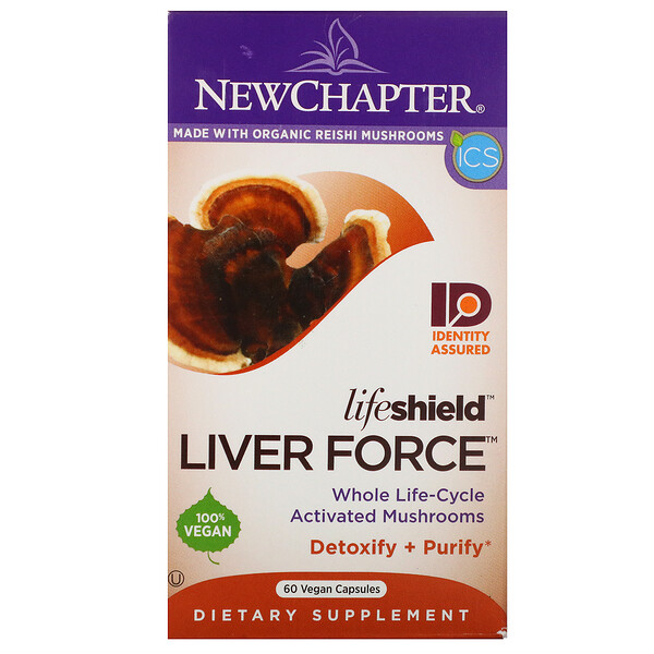New Chapter, Lifeshield Liver Force, 60 Vegan Capsules