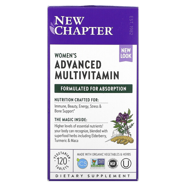 New Chapter, Every Woman Multivitamin, 120 таблеток