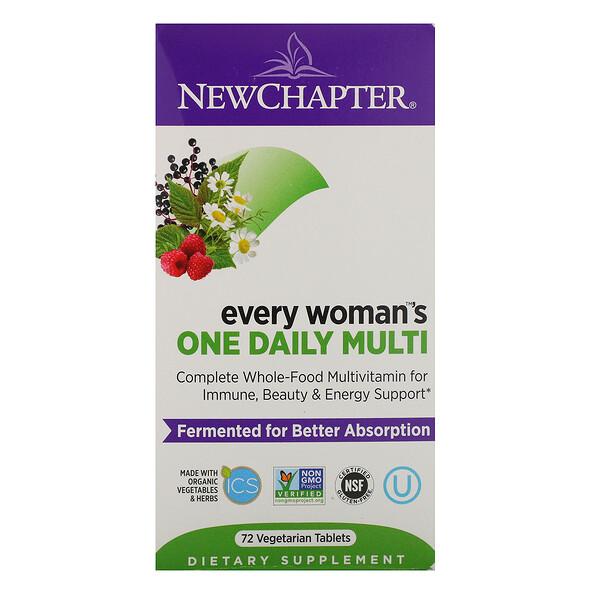 Every Woman, ежедневная мультивитаминная добавка для женщин, 72 вегетарианских таблетки