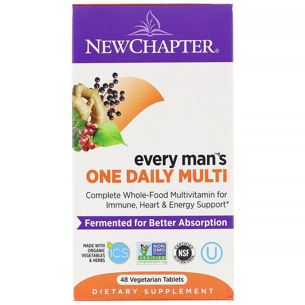 Every Man's, ежедневная мультивитаминная добавка для мужчин, 48 вегетарианских таблеток