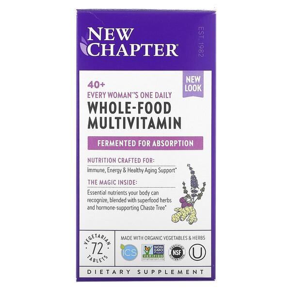 40+ Every Woman's One Daily Multi, мультивитамины для женщин после 40, 72растительные таблетки