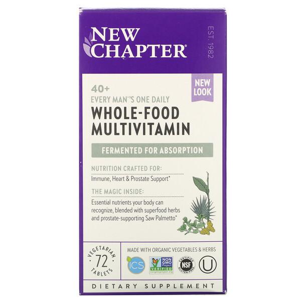 40+ Every Man's One Daily Multi, мультивитамины для мужчин, 72растительные таблетки