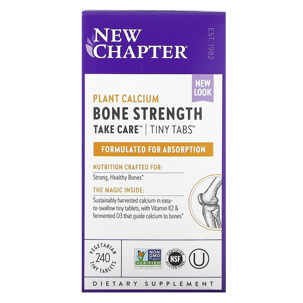 New Chapter, Bone Strength Take Care, 240 Vegetarian Tiny Tablets