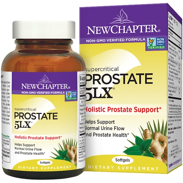 New Chapter, Supercritical Prostate 5LX, 120 гелевых капсул (Discontinued Item)