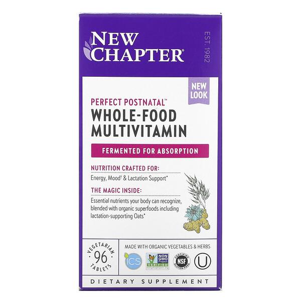 New Chapter, Perfect Postnatal, мультивитамины из цельных продуктов, 96вегетарианских таблеток