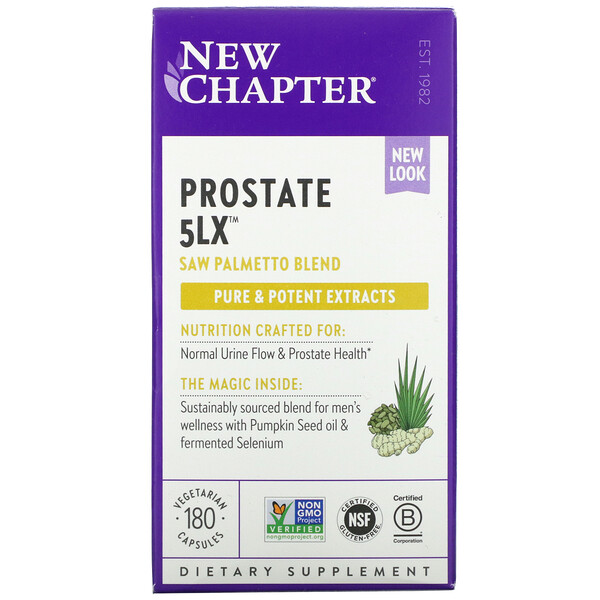 New Chapter, Prostate 5LX, 180 Vegetarian Capsules