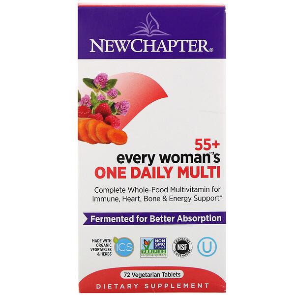 55+ Every Woman's, ежедневные мультивитамины для женщин, 72 вегетарианских таблетки