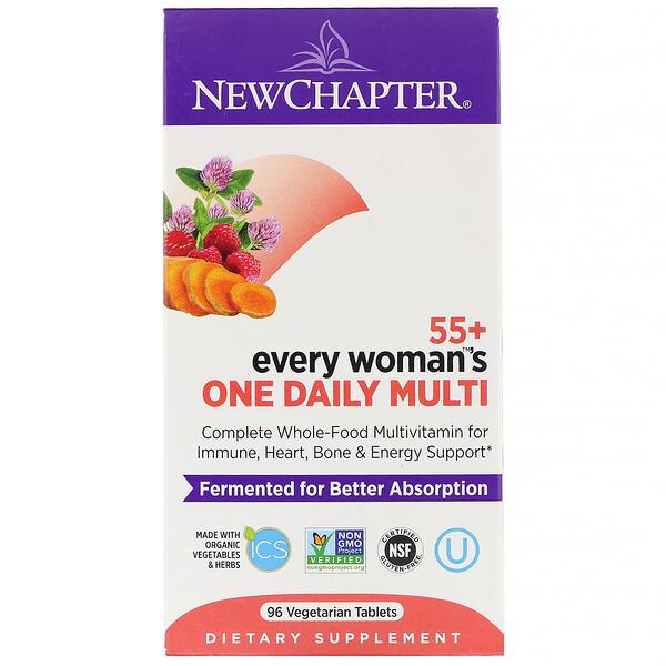 Витамины для женщин в возрасте от 55 лет 55+ Every Woman's One Daily Multi, 96 вегетарианских таблеток