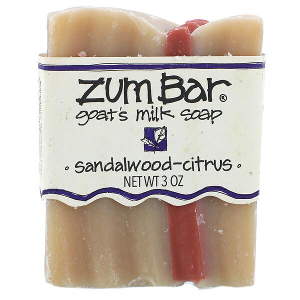 Zum Bar, Мыло с козьим молоком, Сандаловое дерево и цитрус, 3 унции