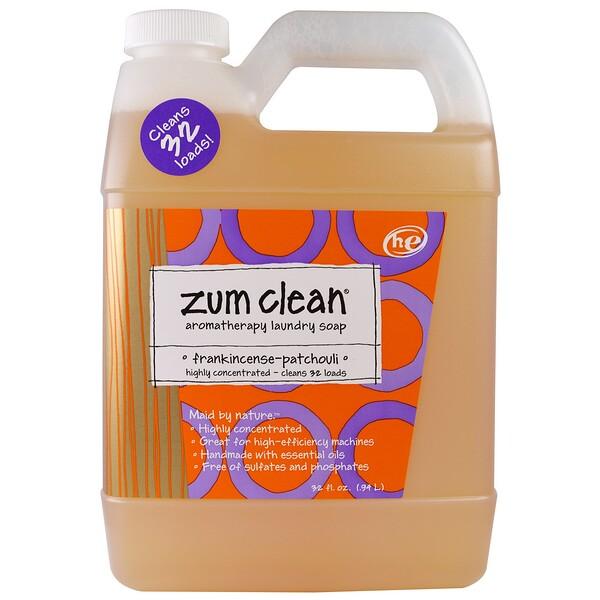 Zum clean, ароматерапевтическое мыло для стирки, с ладаном и пачули, 32 жидких унции