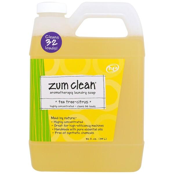Zum Clean, ароматерапевтическое хозяйственное мыло, чайное дерево и цитрус, 0,94 л (32 жидких унции)