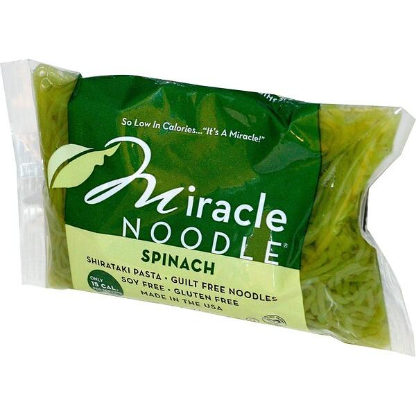 Miracle Noodle, Шпинат, Лапша Ширатаки, 7 унций (198 г)