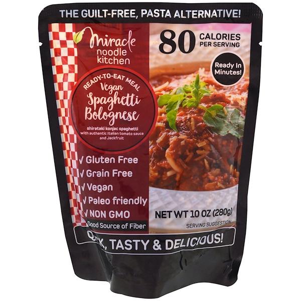 Miracle Noodle, Готовый к употреблению продукт, веганские спагетти болоньезе, 10 унций (280 г) (Discontinued Item)