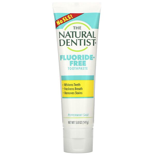 Fluoride-Free Toothpaste, Peppermint Sage, 5.0 oz (141 g)