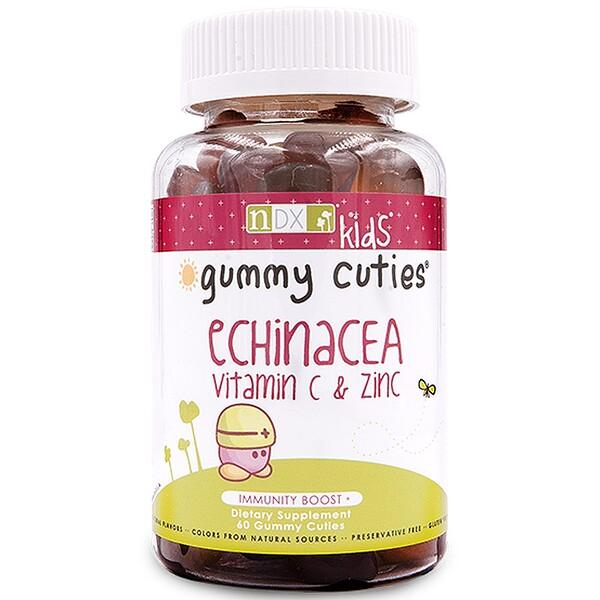 """Natural Dynamix (NDX), """"Жевательные милашки"""" с эхинацеей, витамином C и цинком, для детей, 60 штук"""