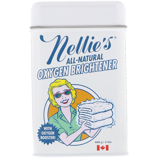 Nellie's, All-Natural, кислородный отбеливатель, 2 фунта (900 г)