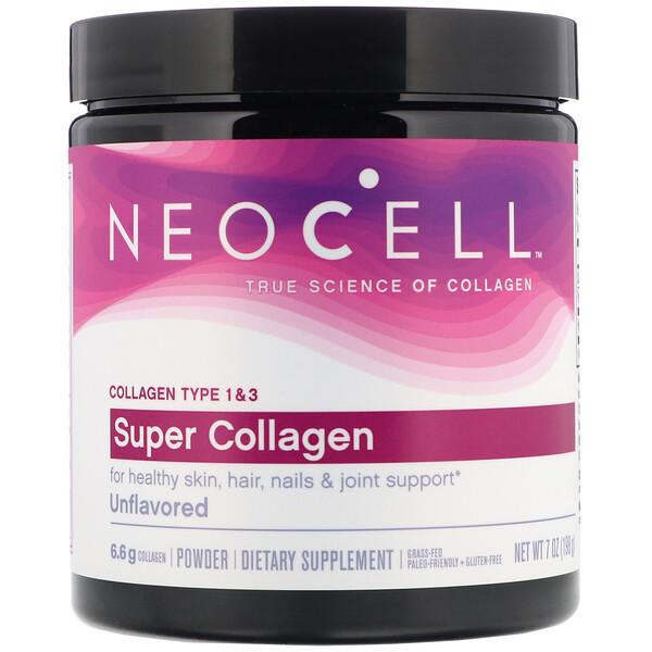 Neocell, Super Collagen, без ароматизаторов, 198г (7унций)