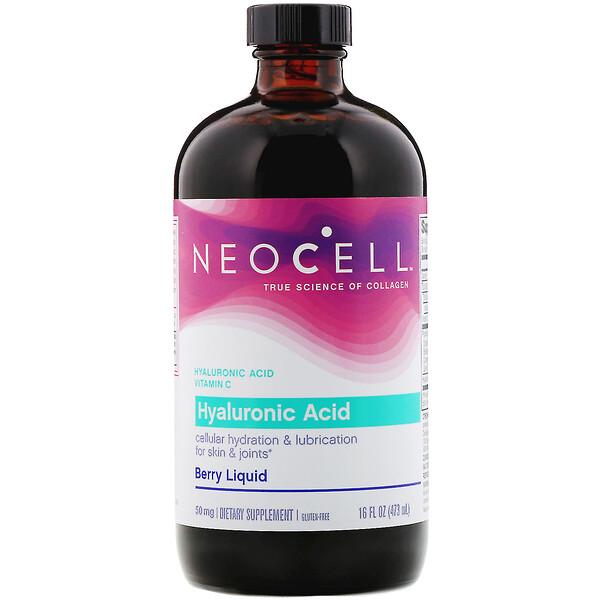 Гиалуроновая кислота в виде сиропа с ягодным вкусом, 50 мг, 16 жидких унций (473 мл)
