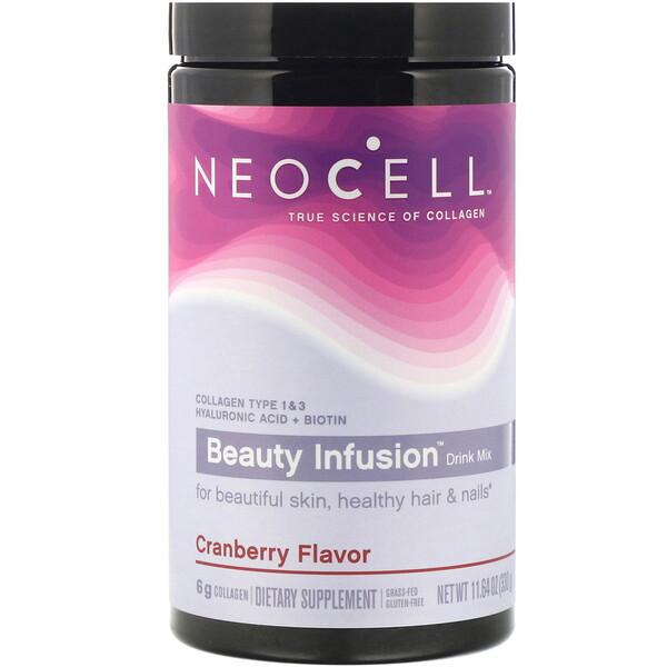 Beauty Infusion, освежающая коллагеновая смесь, со вкусом клюквенного коктейля, 330 г (11,64 унции)