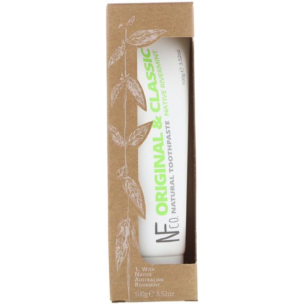 Original & Classic Natural Toothpaste, Native Rivermint, 3.52 oz (100 g)