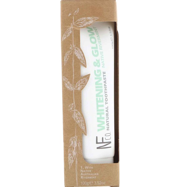 Whitening & Glow Natural Toothpaste, Native Rivermint, 3.52 oz (100 g)