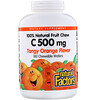 Natural Factors, 100% Natural Fruit Chew Vitamin C, Tangy Orange, 500 mg, 180 Chewable Wafers