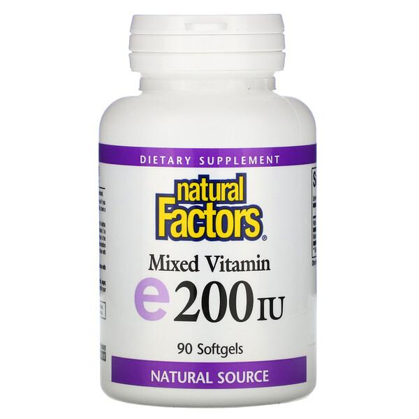 Смесь витаминов E, 200 МЕ, 90 мягких таблеток