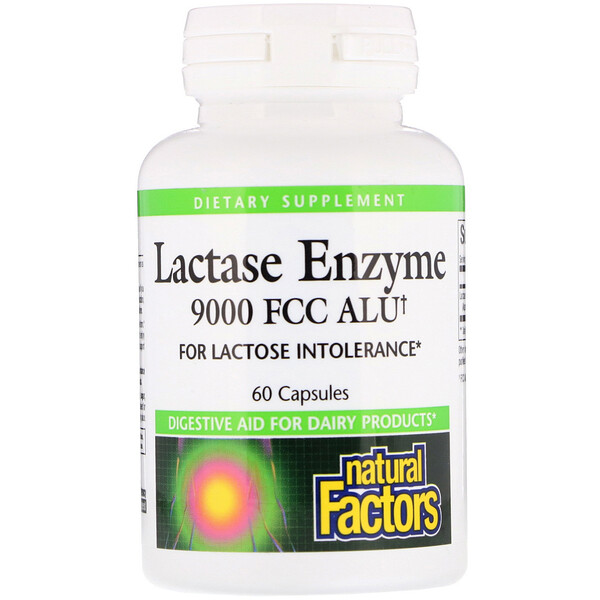 Natural Factors, Lactase Enzyme, 9000 FCC ALU, 60 капсул