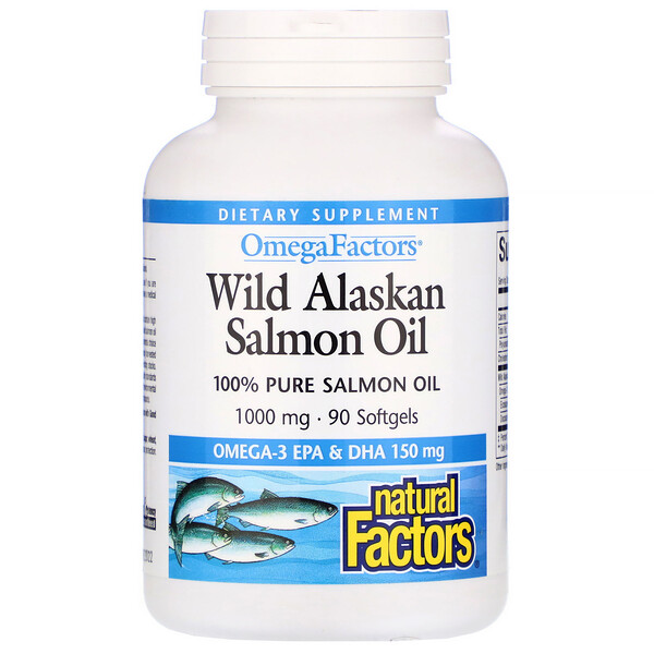 Wild Alaskan Salmon Oil, 1,000 mg, 90 Softgels