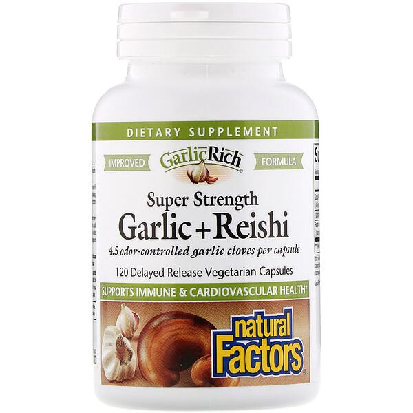 GarlicRich, Super Strength Garlic + Reishi, 120 Delayed Release Vegetarian Capsules