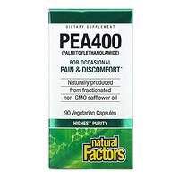 Natural Factors, PEA400, 90 Vegetarian Capsules