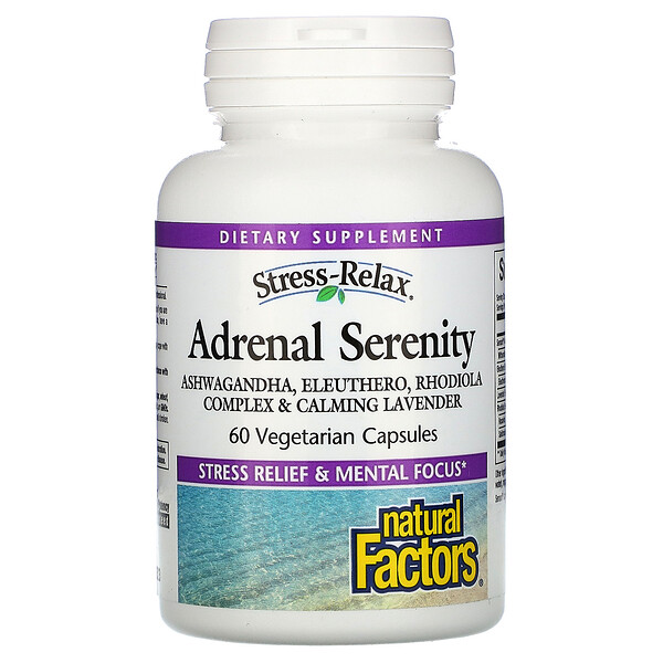 Stress-Relax, Adrenal Serenity, 60 Vegetarian Capsules
