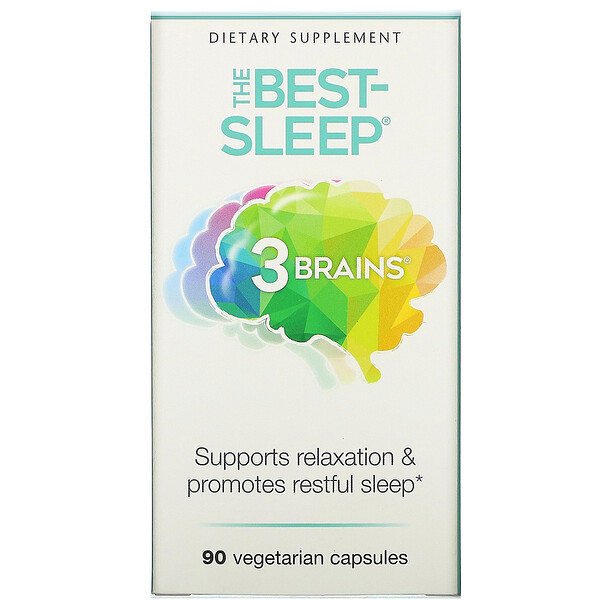 Natural Factors, 3 Brains, The Best-Sleep, 90 Vegetarian Capsules