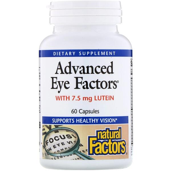 Natural Factors, Advanced Eye Factors, 60 капсул