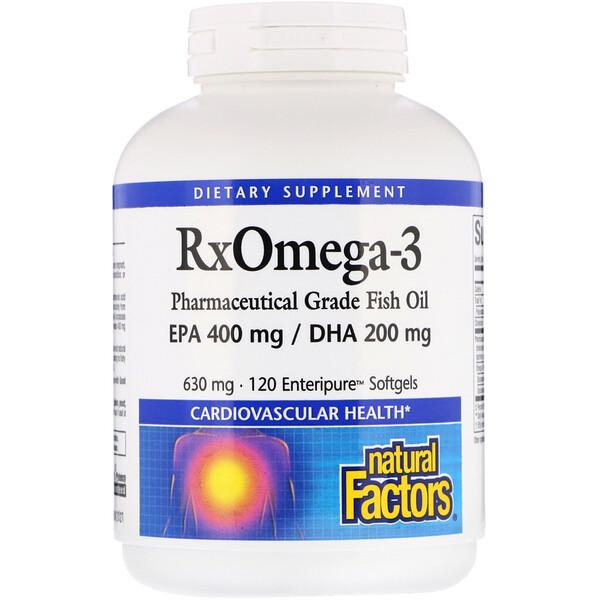 Rx Omega-3 Factors, 630 mg, 120 Softgels